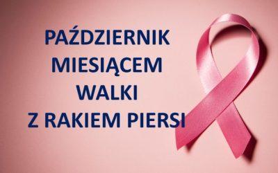 Październik miesiącem walki z rakiem piersi!!!